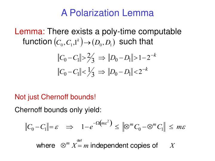 A Polarization Lemma