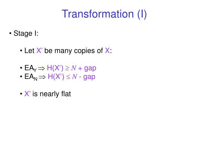 Transformation (I)