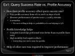 ex1 query success rate vs profile accuracy