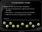 nc transaction model