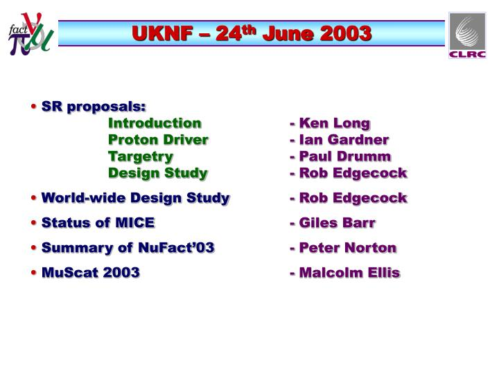 Uknf 24 th june 2003
