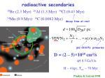 radioactive secondaries