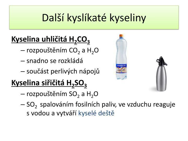 Další kyslíkaté kyseliny