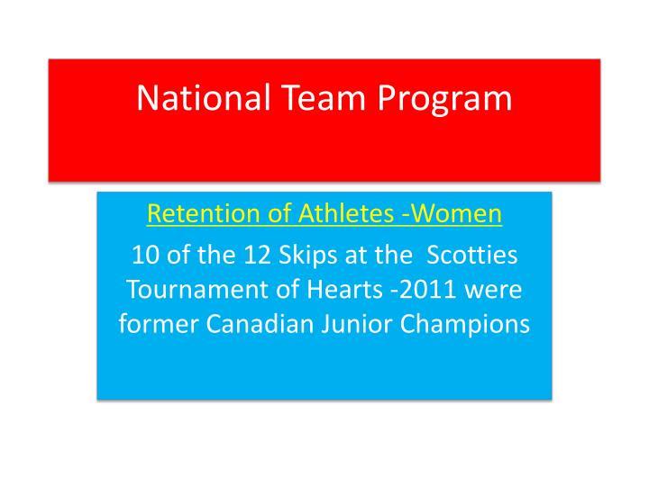 National team program1