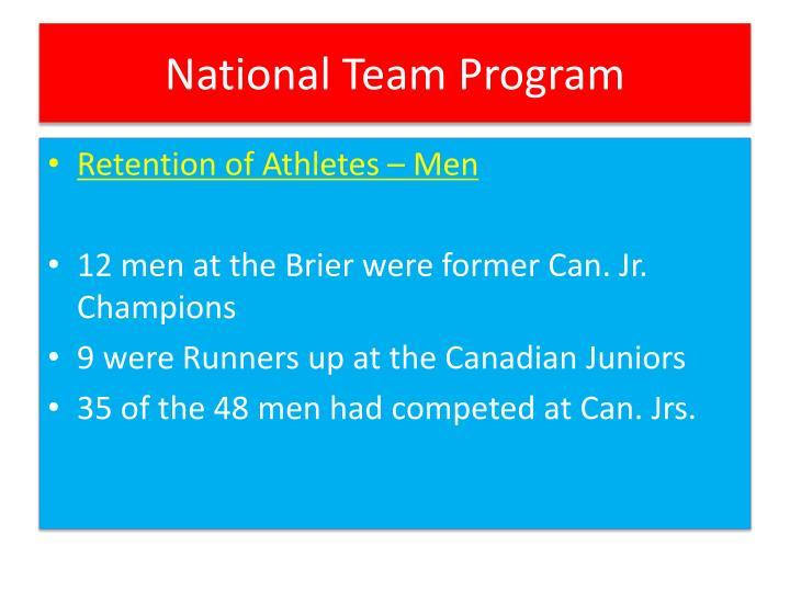 National team program2