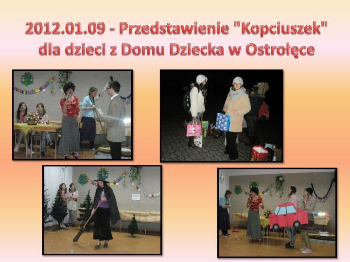 """2012.01.09 - Przedstawienie """"Kopciuszek"""" dla dzieci z Domu Dziecka w Ostrołęce"""