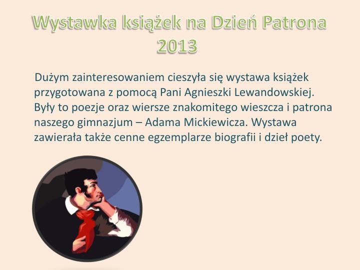 Wystawka książek na Dzień Patrona 2013