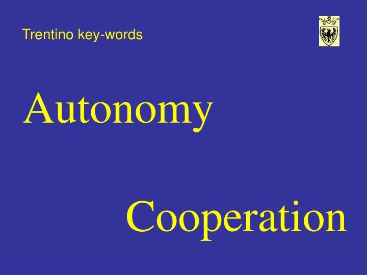 Trentino key-words