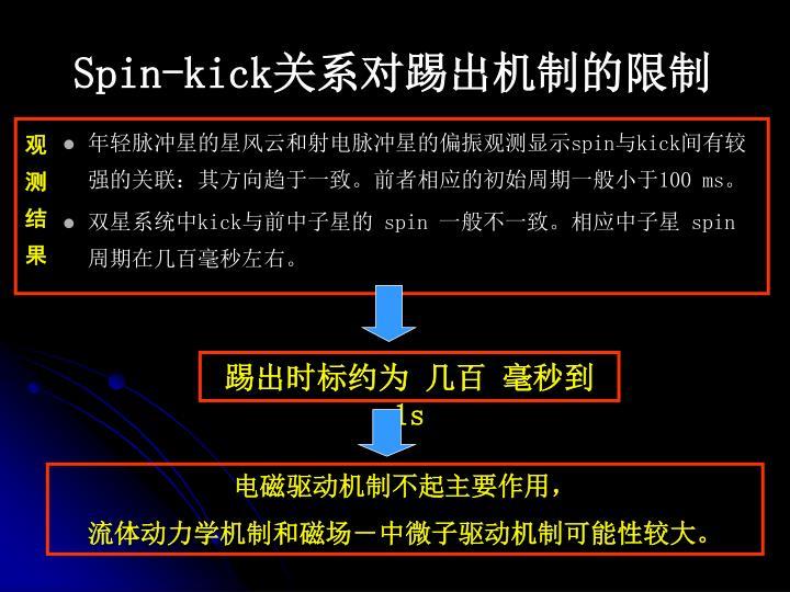 Spin-kick