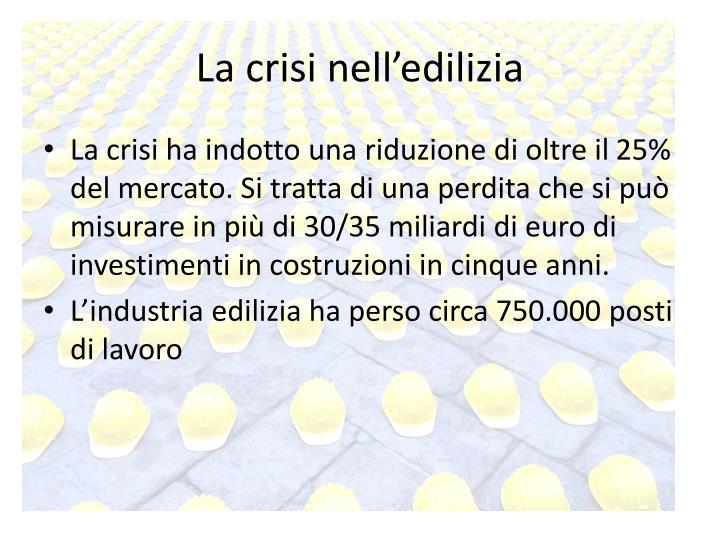 La crisi nell'edilizia