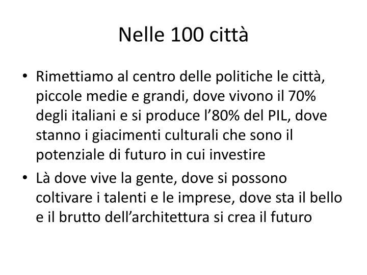 Nelle 100 città