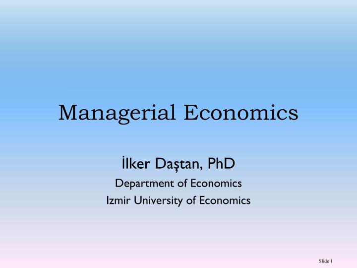 PPT Managerial Economics PowerPoint Presentation ID 5607012