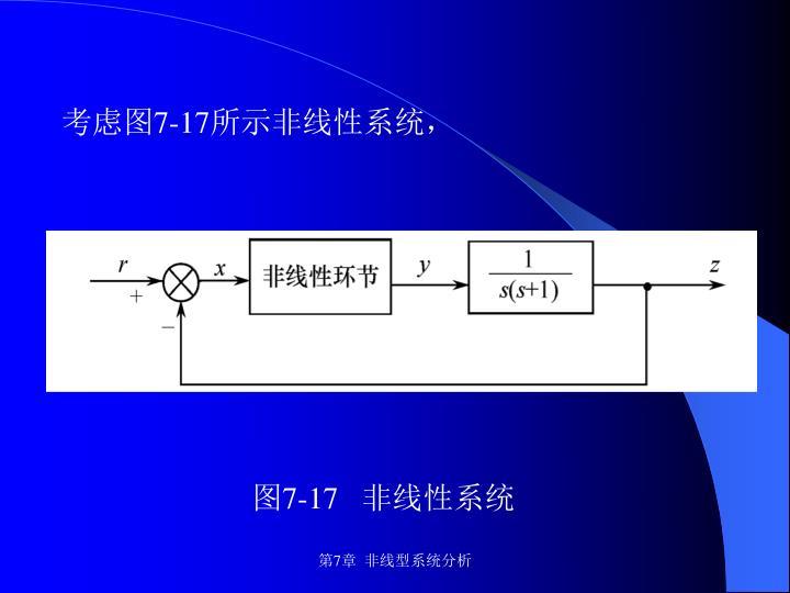 考虑图7-17所示非线性系统,