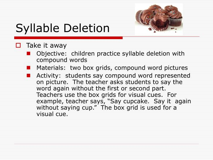 Syllable Deletion
