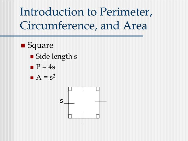 Introduction to Perimeter, Circumference, and Area