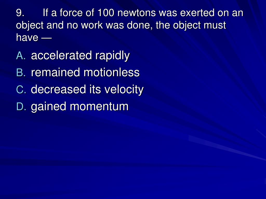 PPT - Calculate Speed, Momentum, Acceleration, Work, and