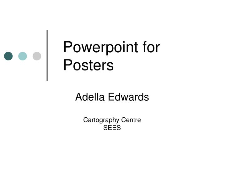powerpoint for posters n.