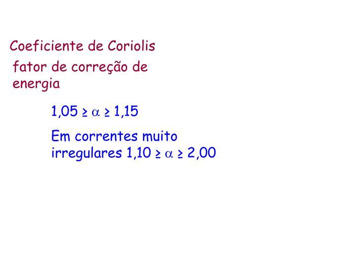 Coeficiente de Coriolis
