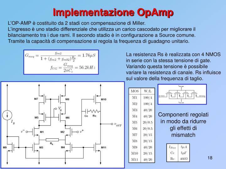 Implementazione OpAmp