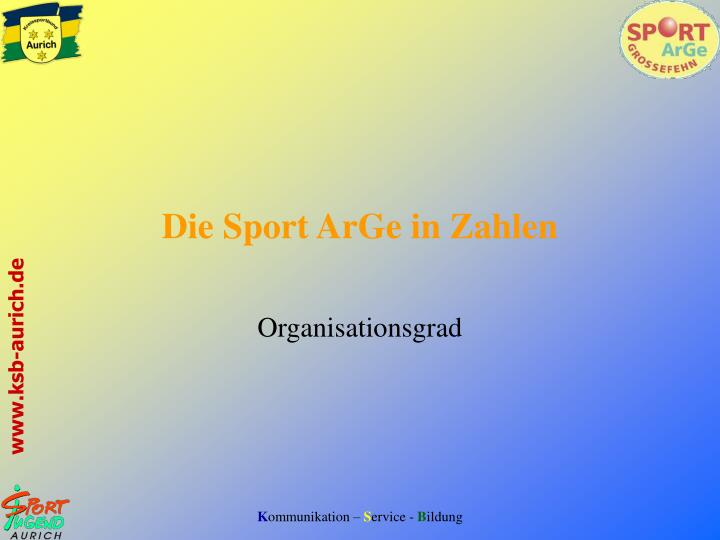 Die Sport ArGe in Zahlen
