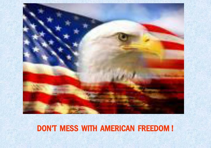 DON'T  MESS  WITH  AMERICAN  FREEDOM !
