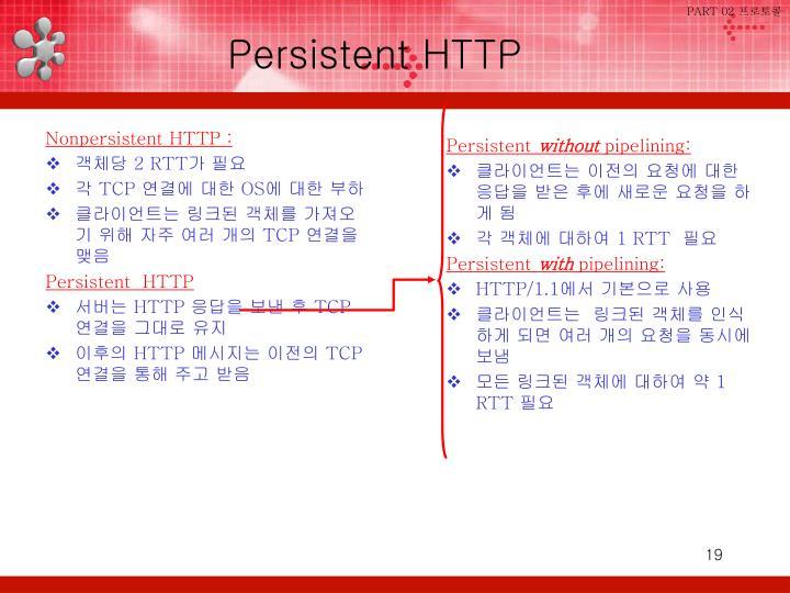 Nonpersistent HTTP :