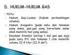 d hukum hukum gas