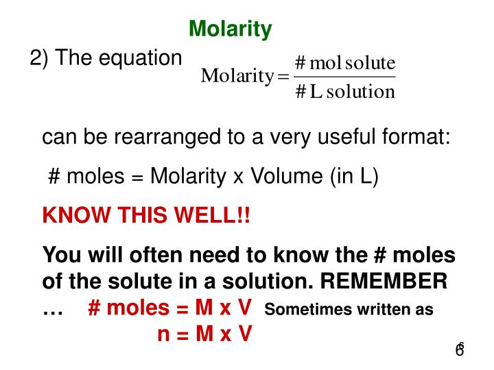 Molarity Equation - #GolfClub