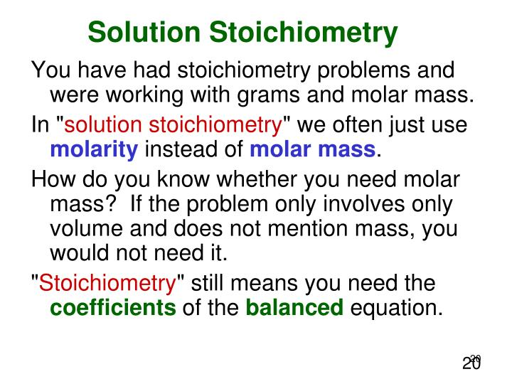 n3 solution stoichiometry and molar dilution Chapter 4 material balances and applications = 924 m g min dilution water flow rate 150 g 924 stoichiometry.