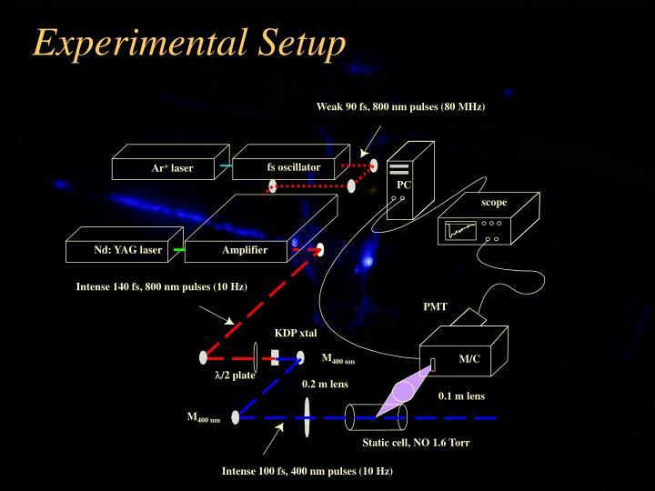 Weak 90 fs, 800 nm pulses (80 MHz)