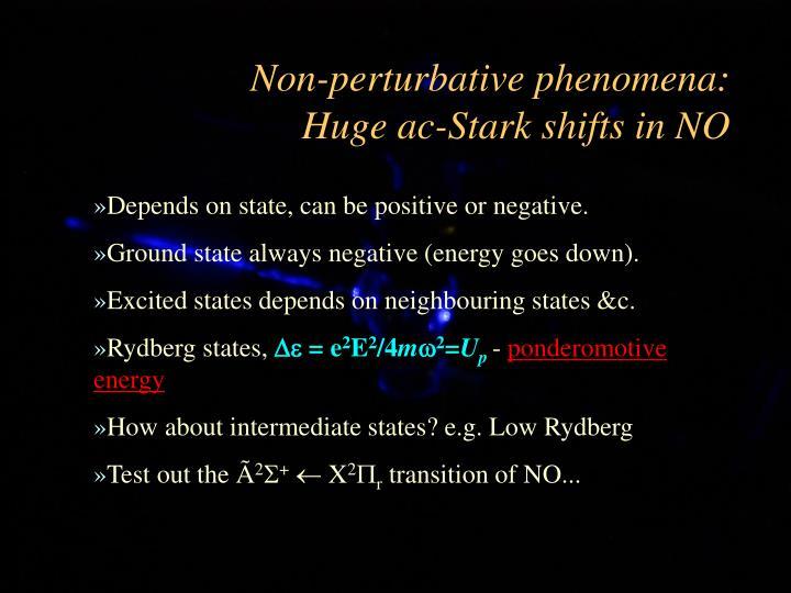 Non-perturbative phenomena: