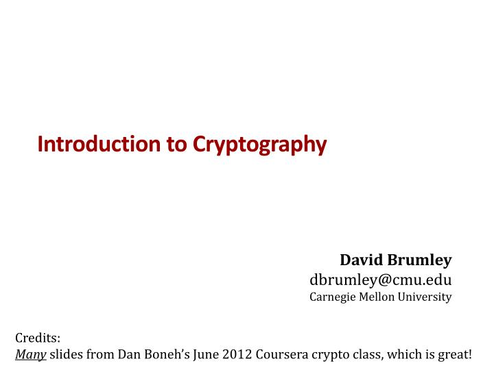 introduction to cryptography n.
