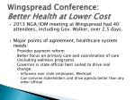 wingspread conference better health at lower cost