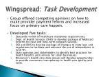 wingspread task development