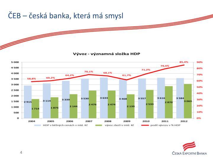 ČEB – česká banka, která má smysl