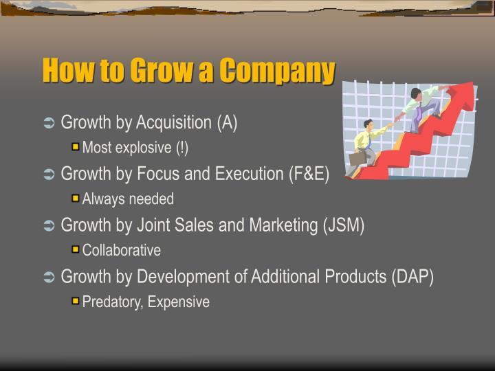 How to Grow a Company