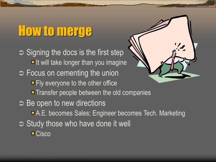 How to merge