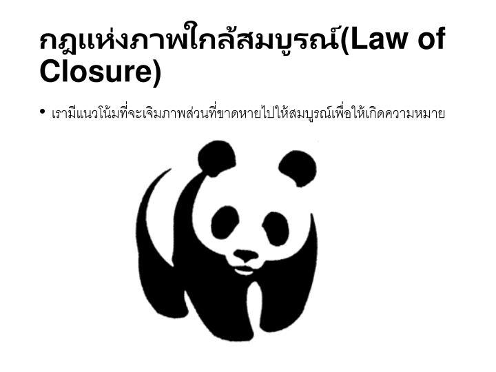 กฎแห่งภาพใกล้สมบูรณ์(