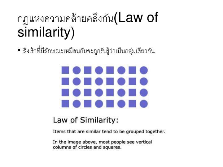 กฎแห่งความคล้ายคลึงกัน(