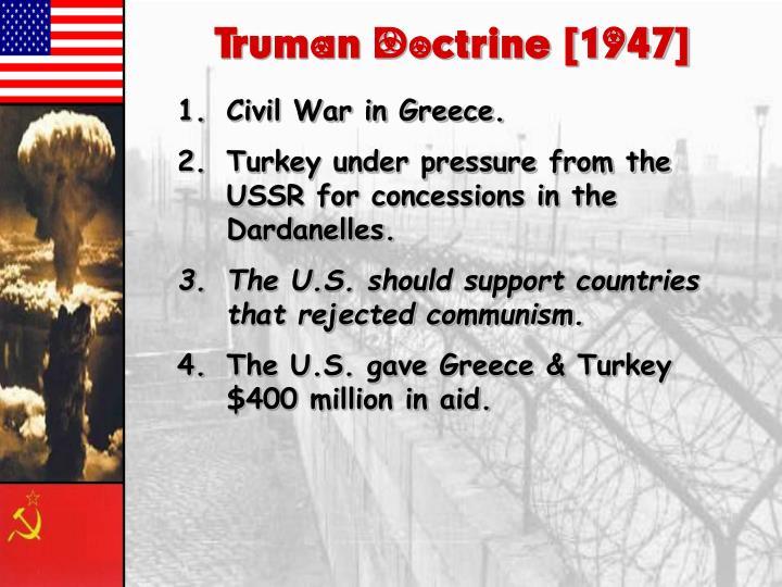 Truman Doctrine [1947]