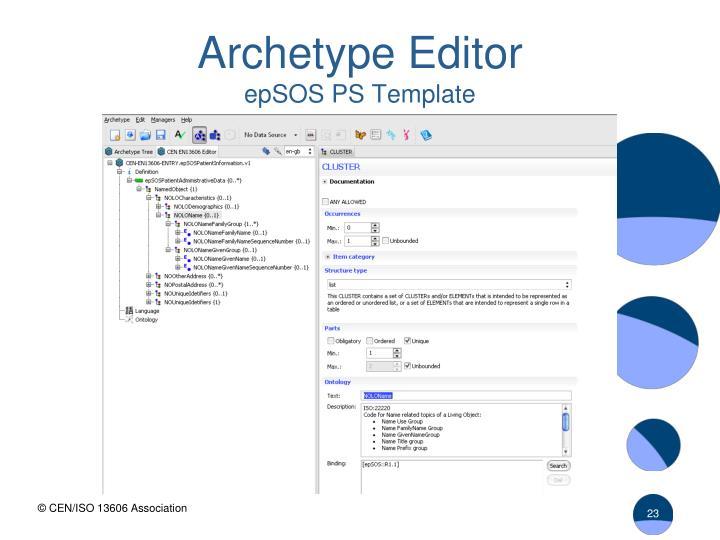 Archetype Editor