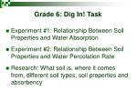 grade 6 dig in task