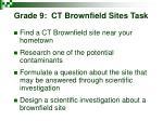 grade 9 ct brownfield sites task