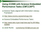 using iconn with science embedded performance tasks cmt capt1