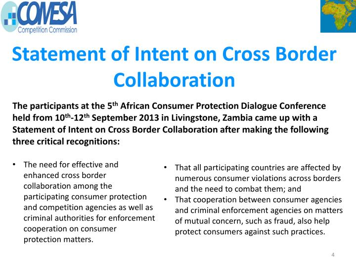 Statement of Intent on Cross Border Collaboration