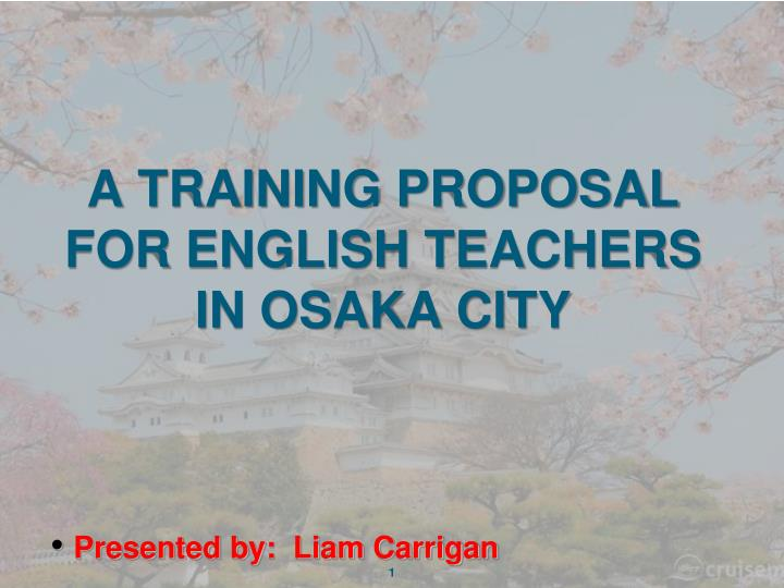 a training proposal for english teachers in osaka city n.
