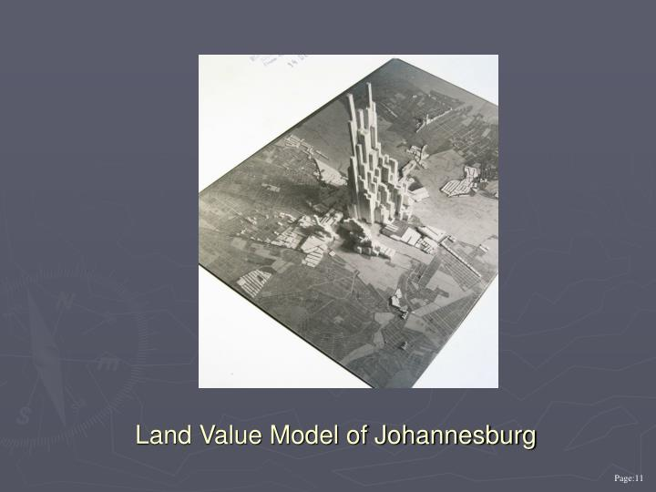 Land Value Model of Johannesburg