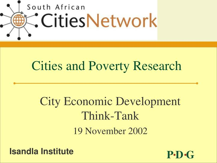 Cities and poverty research