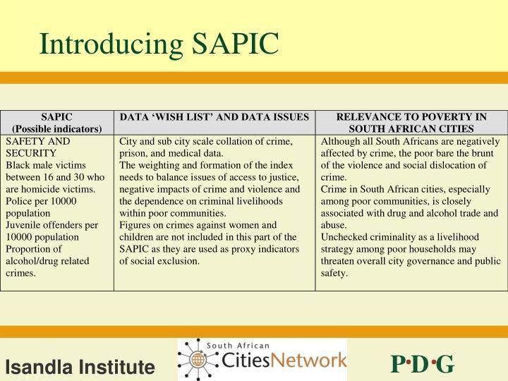 Introducing SAPIC