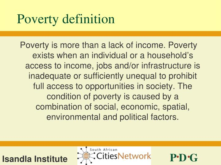 Poverty definition